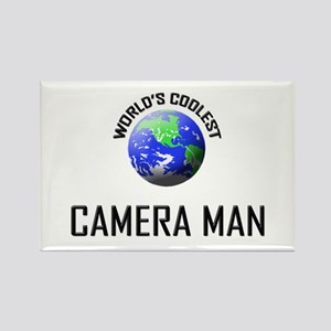 World's Coolest CAMERA MAN Rectangle Magnet