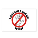 I Don't Have A High Five To G Postcards (Package o