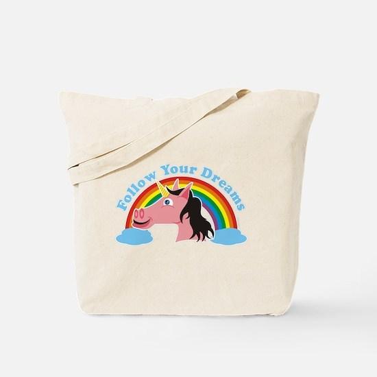 Unicorn Chaser Tote Bag