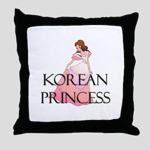 Korean Princess Throw Pillow