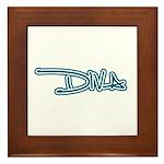 Diva - Blue Framed Tile