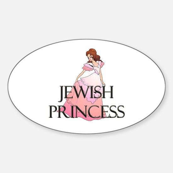 Jewish Princess Oval Decal