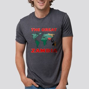 The Great Zambia Country De Mens Tri-blend T-Shirt