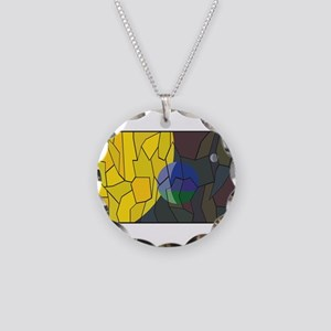 Planet Earth Flag Stained Gl Necklace Circle Charm