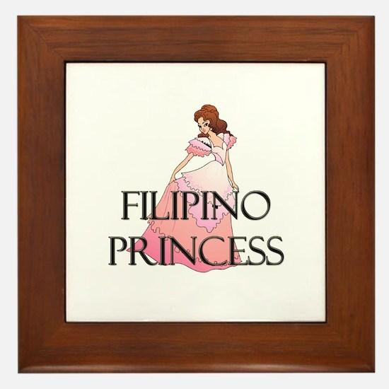 Filipino Princess Framed Tile