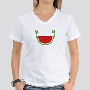Dancing Watermelon Funny Smiling Melon Sum T-Shirt