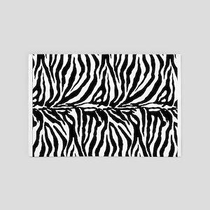 Zebra stripes, black 4' x 6' Rug