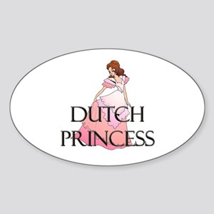 Dutch Princess Oval Sticker