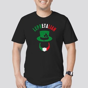 Lepretalian Men's Fitted T-Shirt (dark)