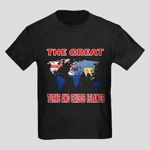 The Great Turks Country Designs Kids Dark T-Shirt