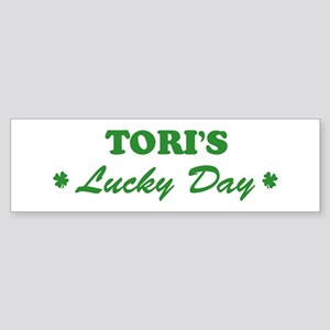 TORI - lucky day Bumper Sticker