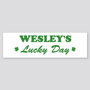 WESLEY - lucky day Bumper Sticker