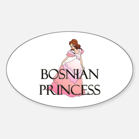 Bosnian Princess Oval Decal