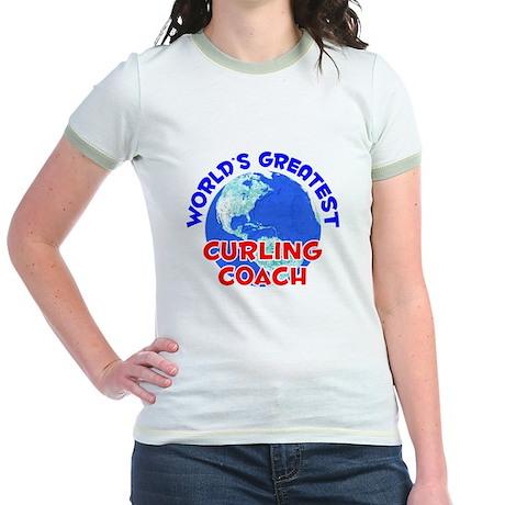 World's Greatest Curli.. (E) Jr. Ringer T-Shirt