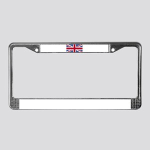 Union Jack License Plate Frame