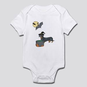Dachshund Witch Halloween Infant Bodysuit