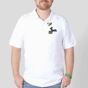 Dachshund Witch Halloween Golf Shirt
