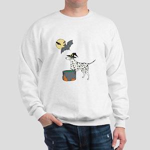 Dalmatian Witch Halloween Sweatshirt