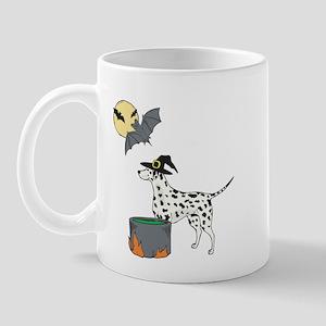 Dalmatian Witch Halloween Mug