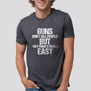 Guns Kill People Mens Tri-blend T-Shirt