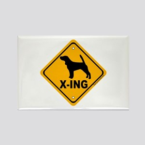 Beagle X-ing Rectangle Magnet (10 pack)