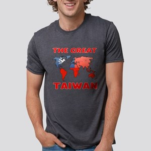 The Great Taiwan Country De Mens Tri-blend T-Shirt