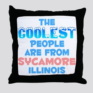 Coolest: Sycamore, IL Throw Pillow
