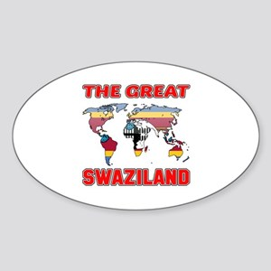 The Great Swaziland Designs Sticker (Oval)