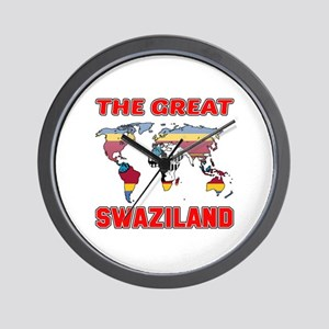 The Great Swaziland Designs Wall Clock