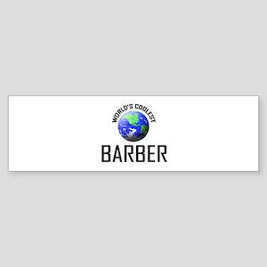 World's Coolest BARBER Bumper Sticker