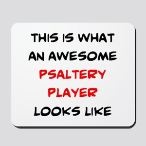 awesome psaltery player Mousepad