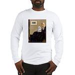 Whistler's Mother Maltese Long Sleeve T-Shirt