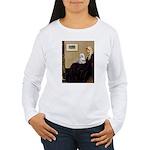 Whistler's Mother Maltese Women's Long Sleeve T-Sh