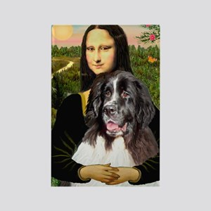Mona Lisa's Landseer Rectangle Magnet