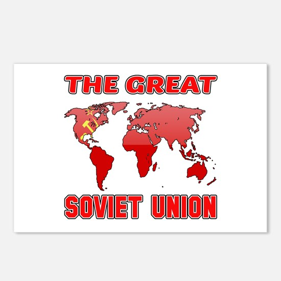 The Great Soviet Union De Postcards (Package of 8)