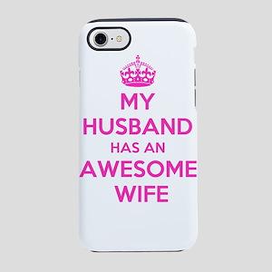 mu husband has an awesome wi iPhone 8/7 Tough Case