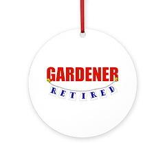 Retired Gardener Ornament (Round)