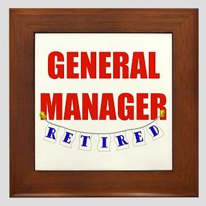 Retired General Manager Framed Tile
