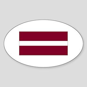 Latvia Oval Sticker