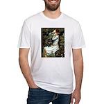 Ophelia (2) & Black Pug Fitted T-Shirt