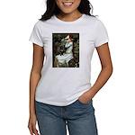 Ophelia (2) & Black Pug Women's T-Shirt