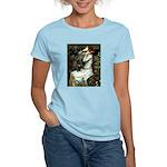 Ophelia (2) & Black Pug Women's Light T-Shirt