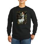 Ophelia (2) & Black Pug Long Sleeve Dark T-Shirt