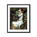 Ophelia (2) & Black Pug Framed Panel Print