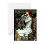 Ophelia (2) & Black Pug Greeting Cards (Pk of 20)