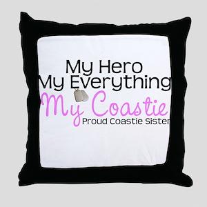My Everything Coastie Sister Throw Pillow