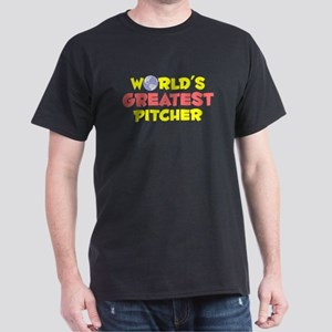 World's Greatest Pitcher (B) Dark T-Shirt