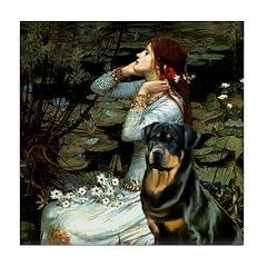 Ophelia/Rottweiler Tile Coaster