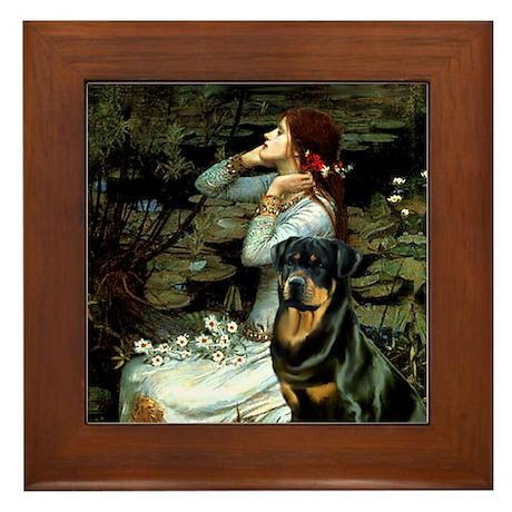 Ophelia/Rottweiler Framed Tile