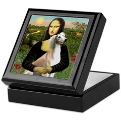 Mona Lisa (new) & Saluki Keepsake Box
